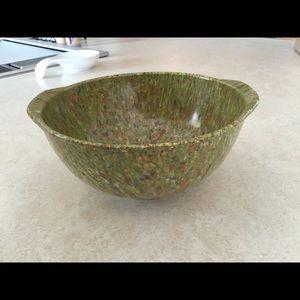 Vintage Green Melamine confetti mixing bowl